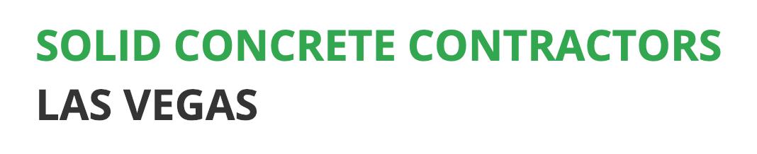 Solid Concrete Contractors Las Vegas Logo